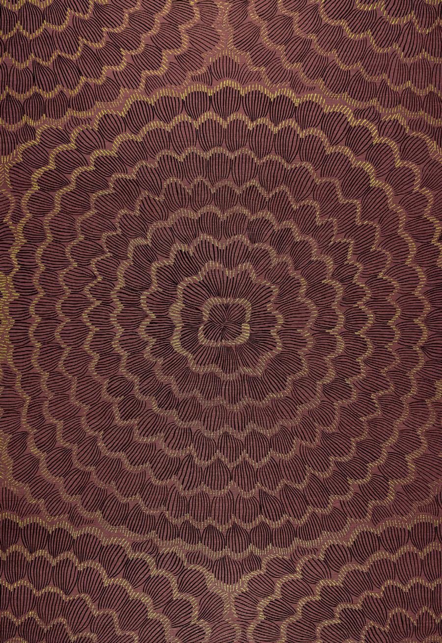 Celerie Kemble Feather Bloom Golden Plum Wallcovering (Priced by the Yard. Sold in 8 Yard Increments. Minimum Order is 8 Yards)