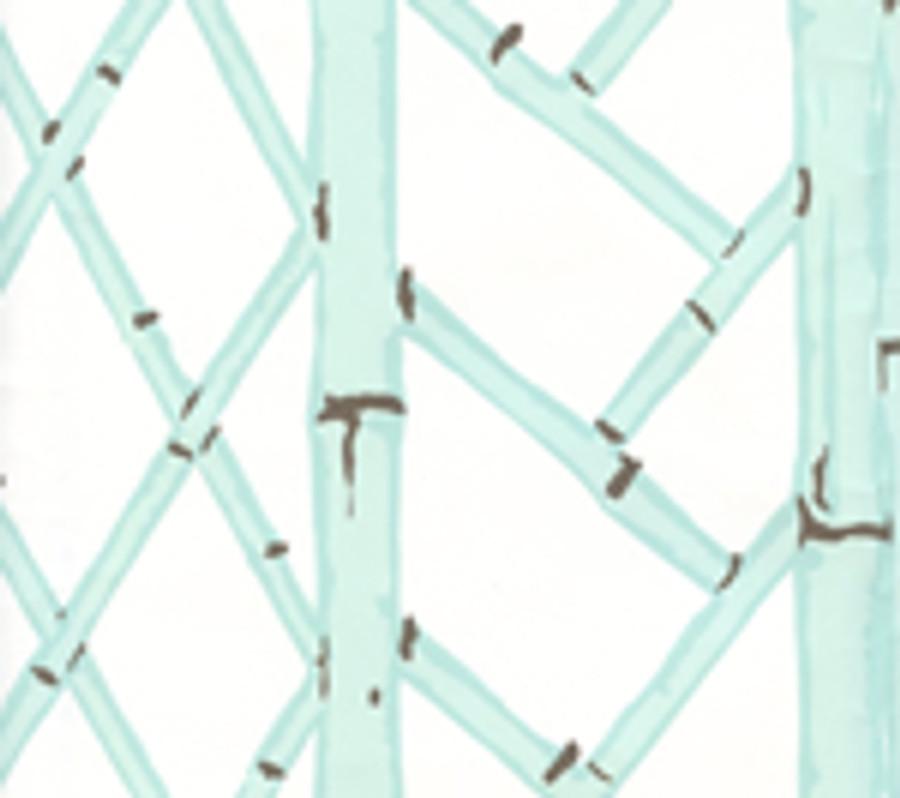 LYFORD TRELLIS  6020W 03 Aqua Brown on White