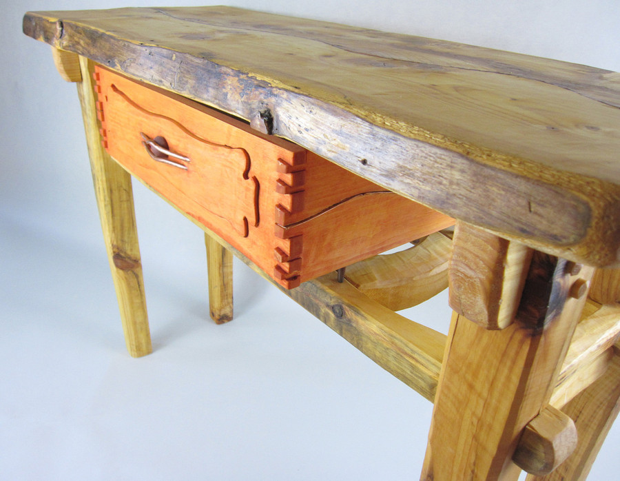 Drawer has beautiful joinery and detailing.