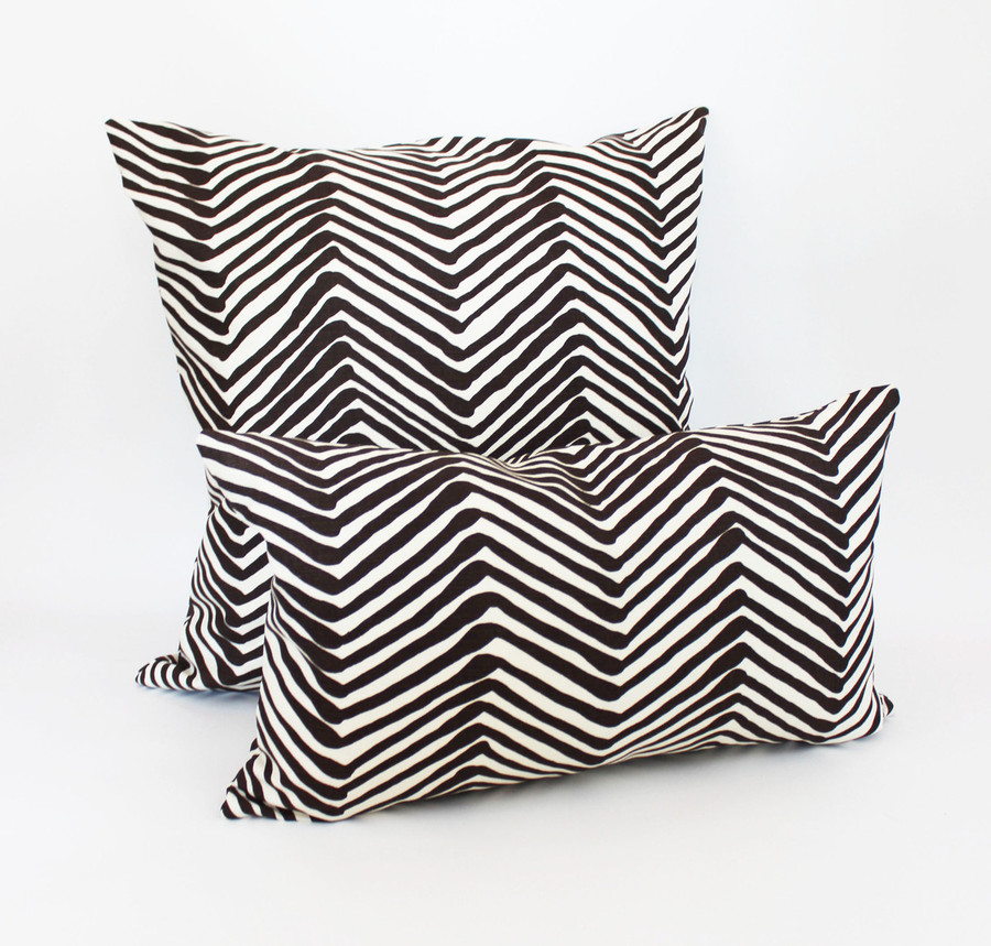 "Quadrille Zig Zag 24"" Pillow and Lumbar Pillow 14"" X 24"""