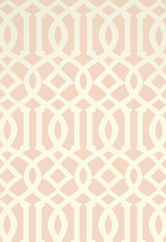 Schumacher Imperial Trellis II Blush Wallpaper 5005806