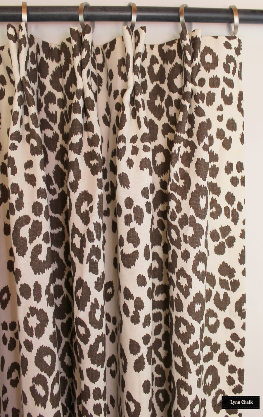 Schumacher Iconic Leopard Knife Edge Pillows in Fuchsia/Natural  (comes in other colors)