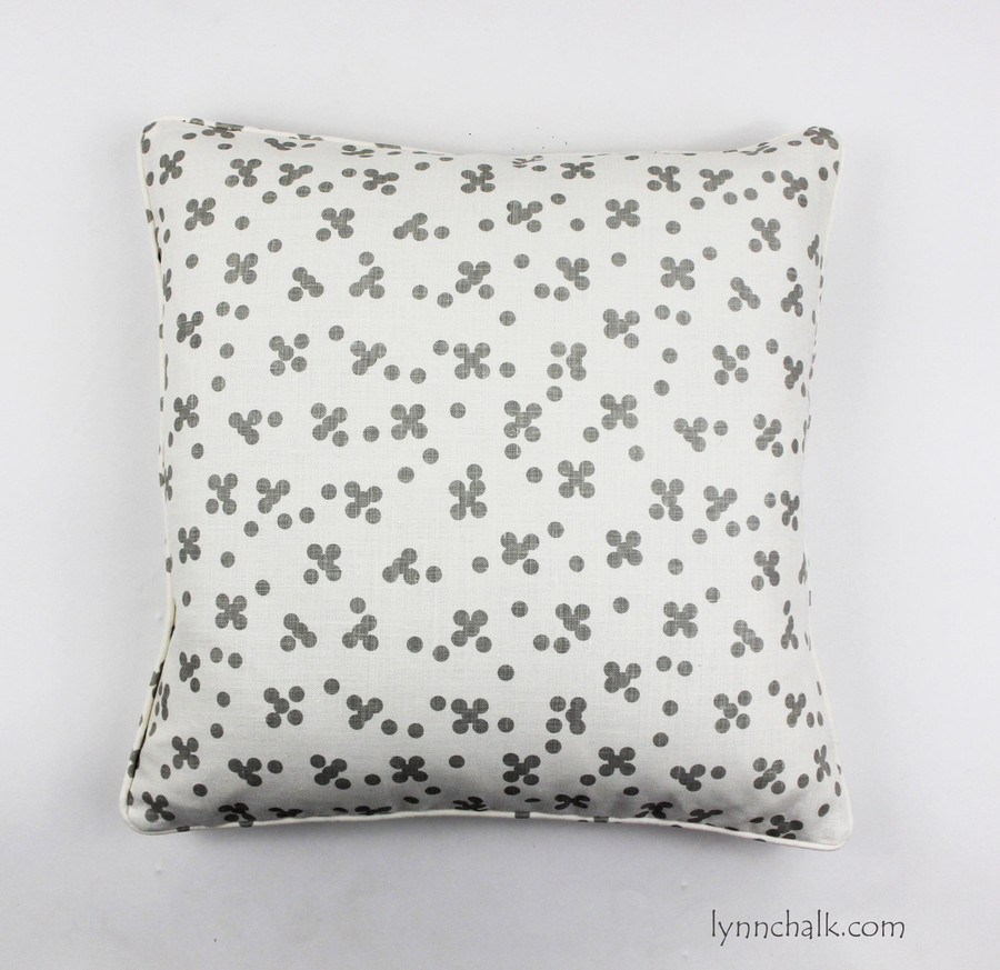 Christopher Farr Pollen Pillows in Smoke with Self Welting by Lynn Chalk