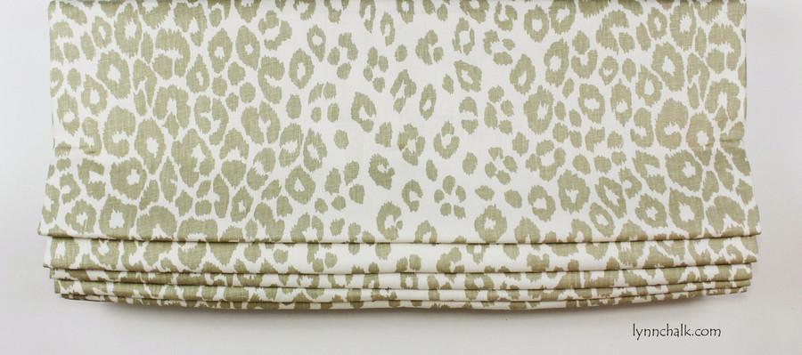 Custom Roman Shade by Lynn Chalk in Schumacher Iconic Leopard in Linen
