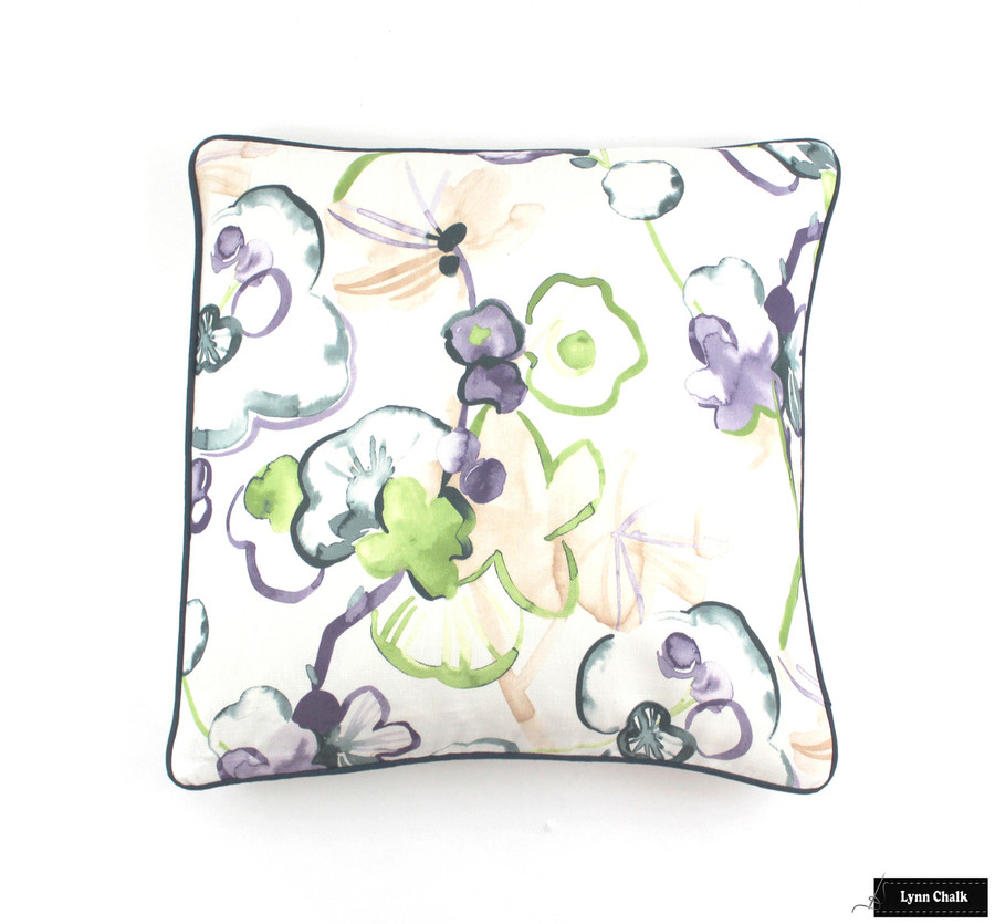 Vervain Santenay Living Room Drapes (Shown in Orchid-also comes in Lagoon, Carnival and Saffron)