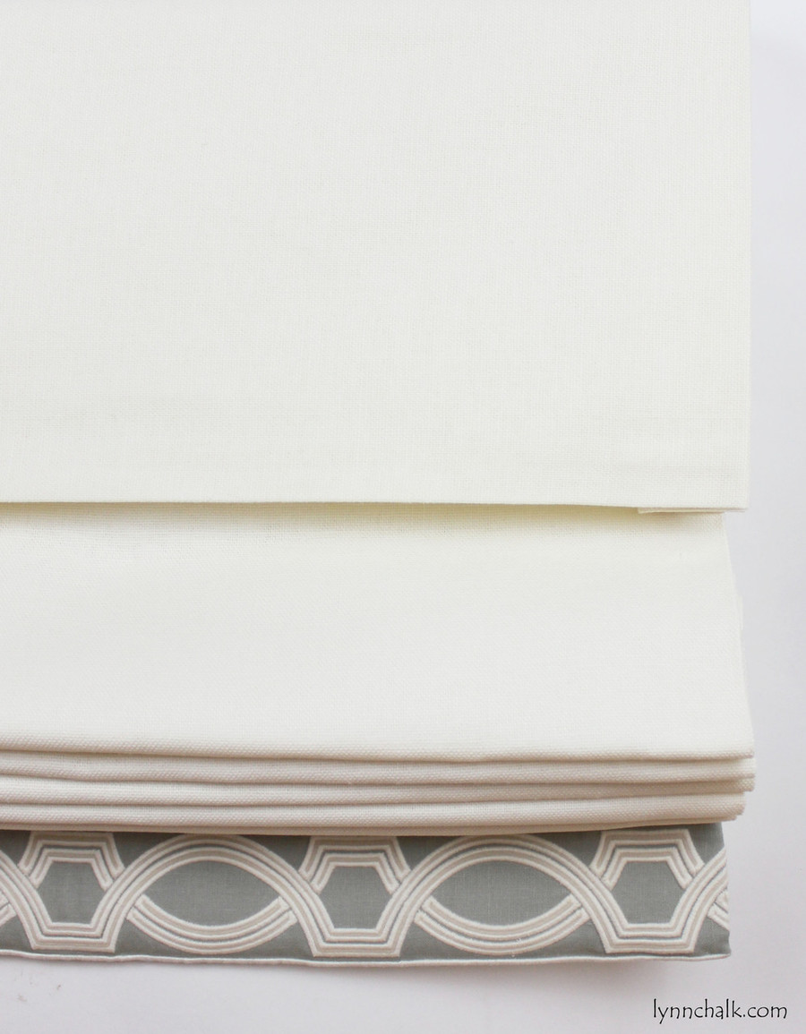 Roman Shades in Trend 01838T 07 with Samuel & Sons 977 56199 Trim.
