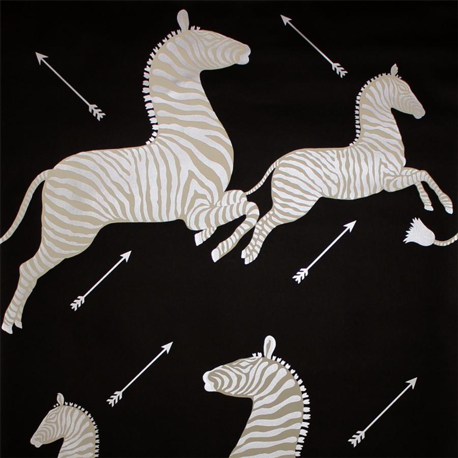 Scalamandre Zebras Wallpaper Black & Silver - 2 Roll Minimum Order