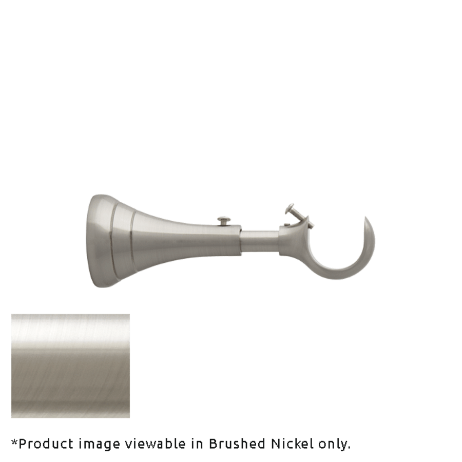 """Optional - Brackets for Poles with 5"""" - 6 1/2"""" Projection (shown in Brushed Nickel).  You will receive brackets to match the finish you are ordering."""