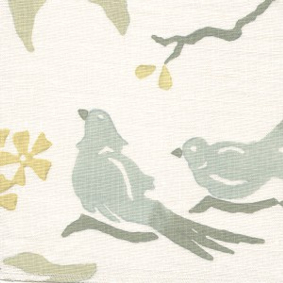 Birds in Mineral on White Linen