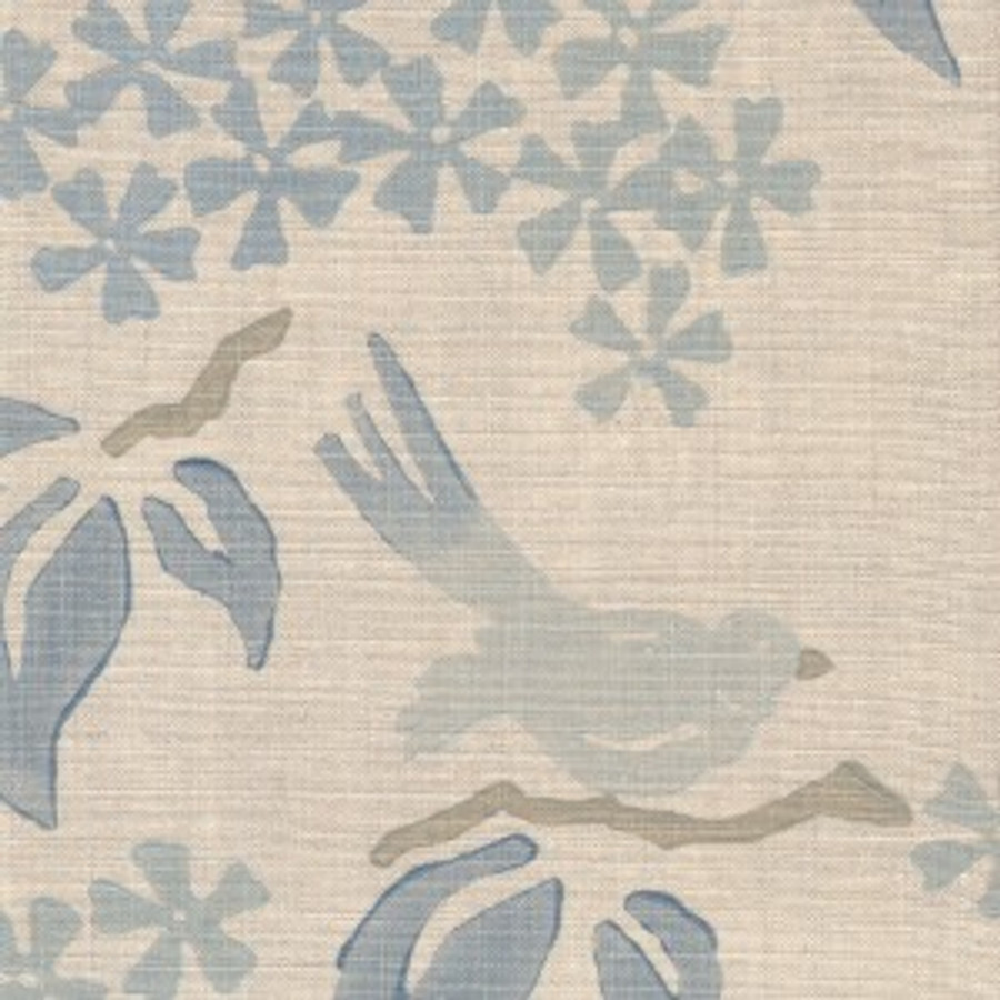 Birds in Wave on Natural Linen