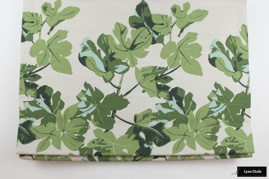 Peter Dunham Fig Leaf Original on Natural Roman Shade