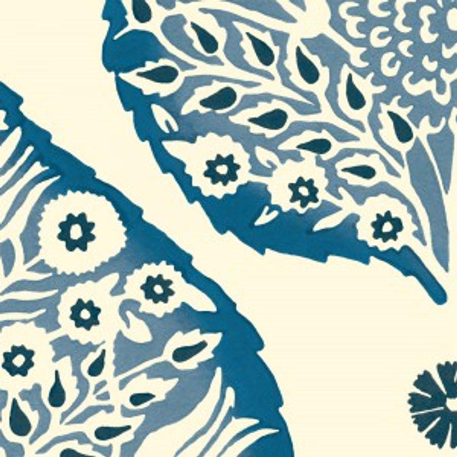 Lotus Wallpaper Cobalt