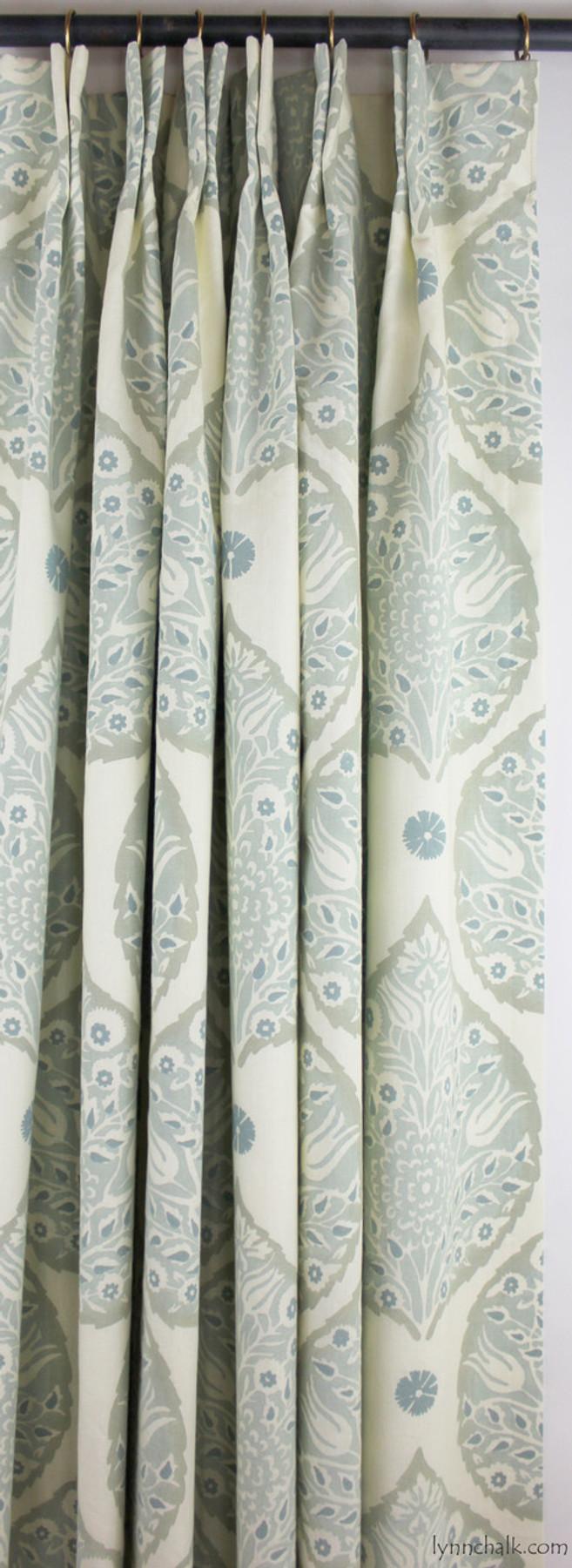 Galbraith and Paul Lotus Wallpaper in Aqua Bedroom (Ryland Witt Interior Design) Wallpaper Sold By The Yard - 5 Yard Minimum Order