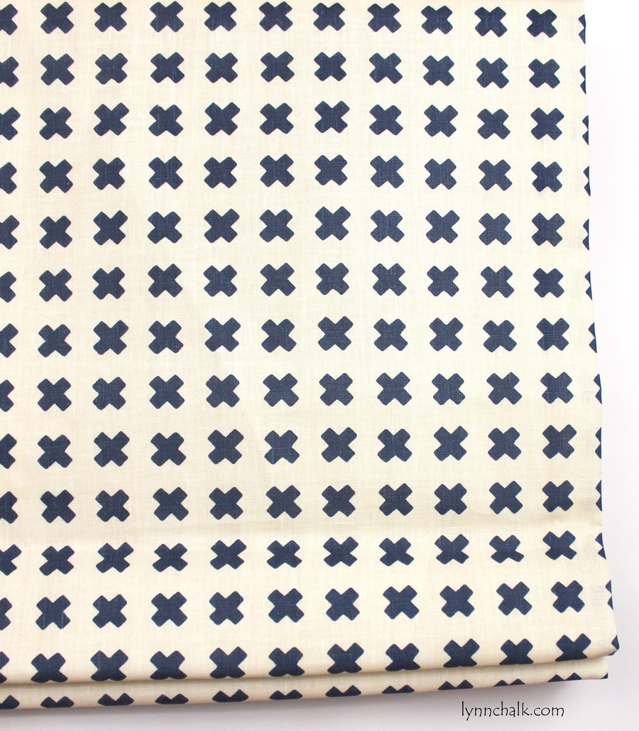 Roman Shade in Cross Check Navy on Tint