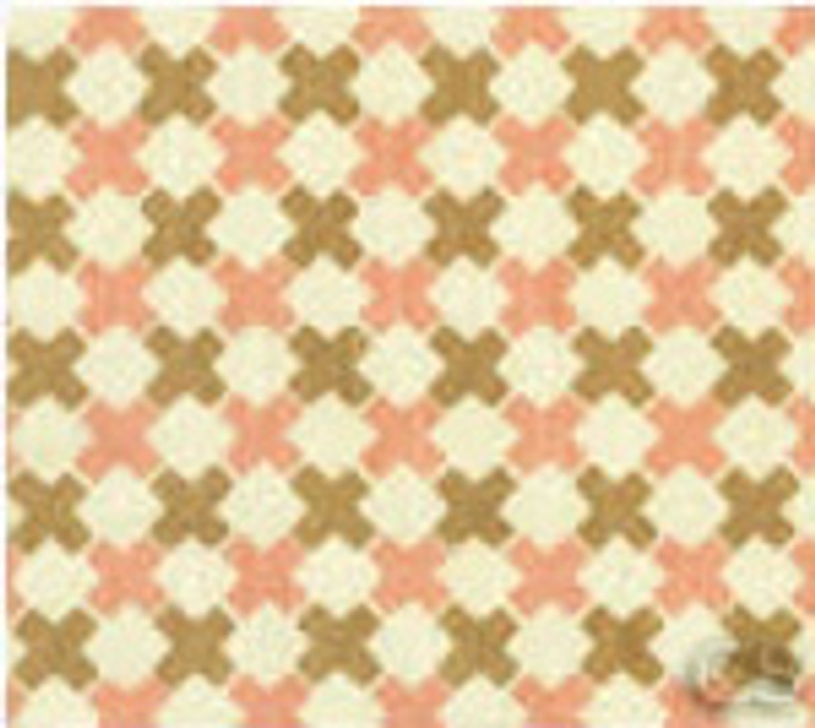 Double Cross Check Camel with Pink on Tint 4120-02