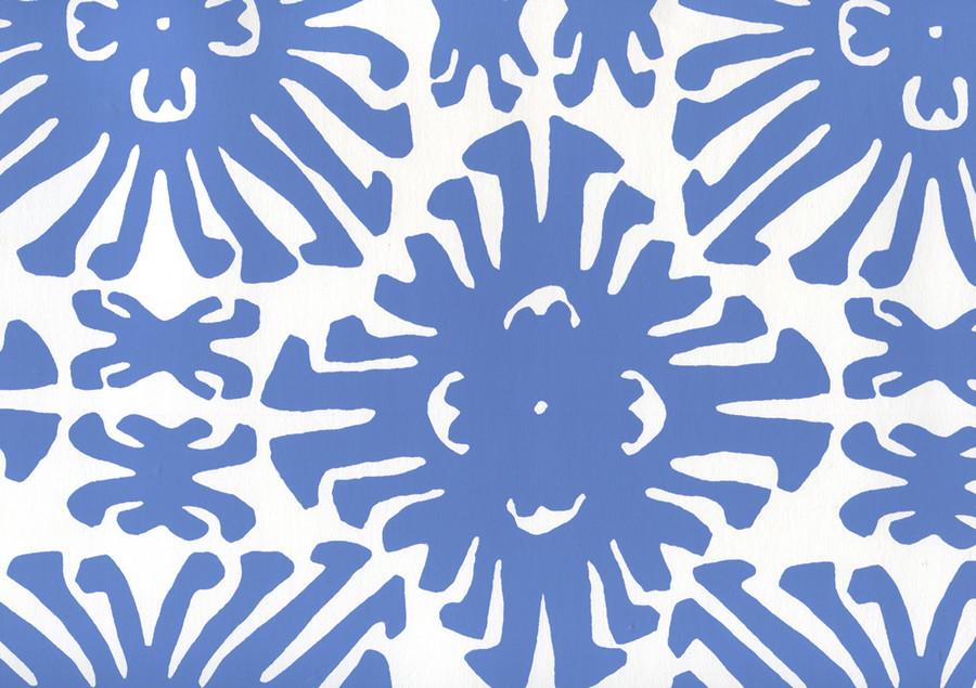 Sigourney Small Scale Royal Blue on white 2475WP 13