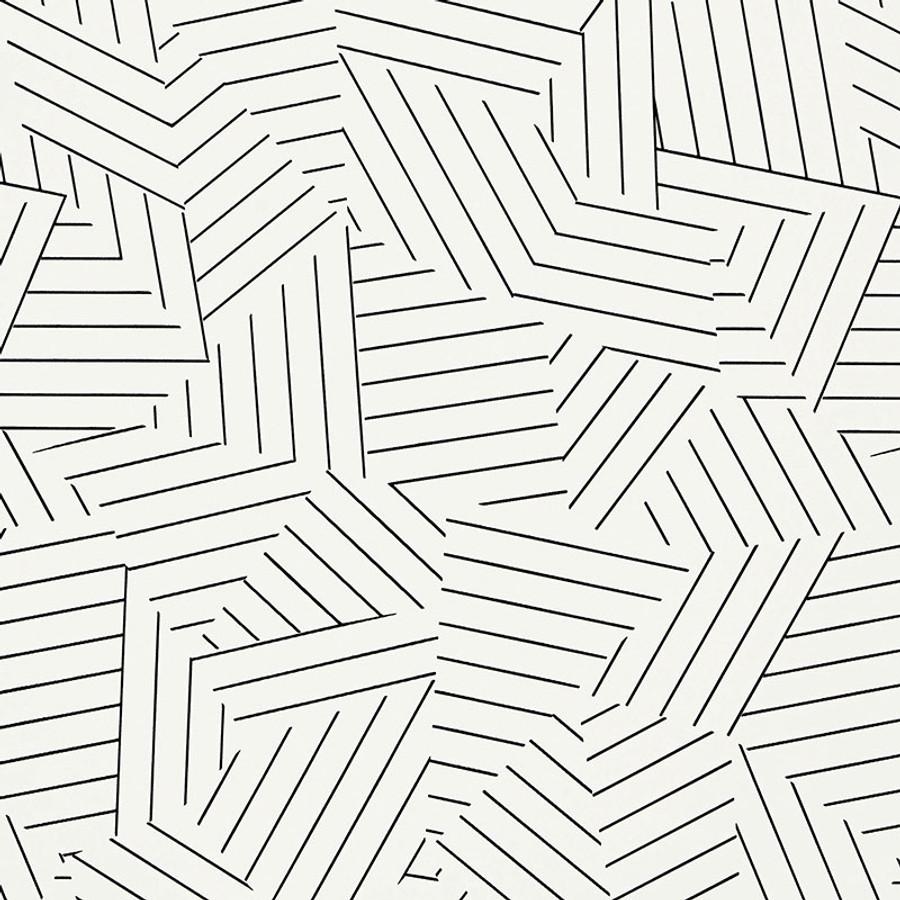 5007973 Deconstructed Stripe Wallpaper Black
