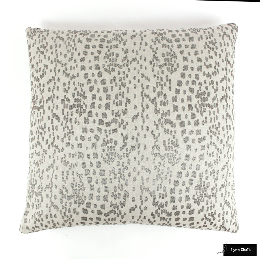 Pillow in Brunschwig Les Touches Embroidered in Stone
