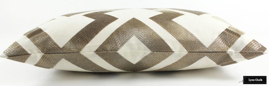 Pillow in Lightning Bolt in Antique 8014121 411 (14 X 24)