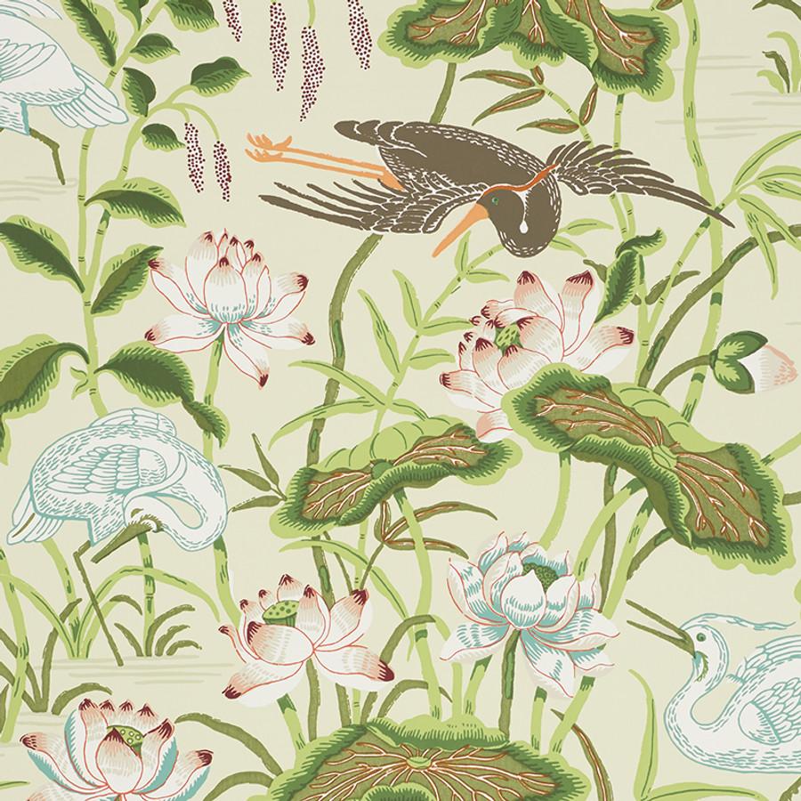 5008431 Lotus Garden Wallpaper in Parcment