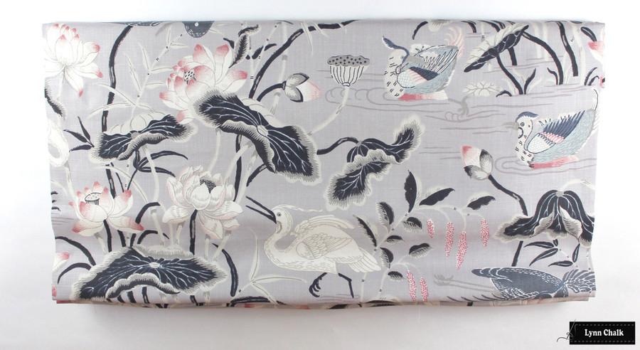 Schumacher Lotus Garden Lilac Wallpaper 5008432