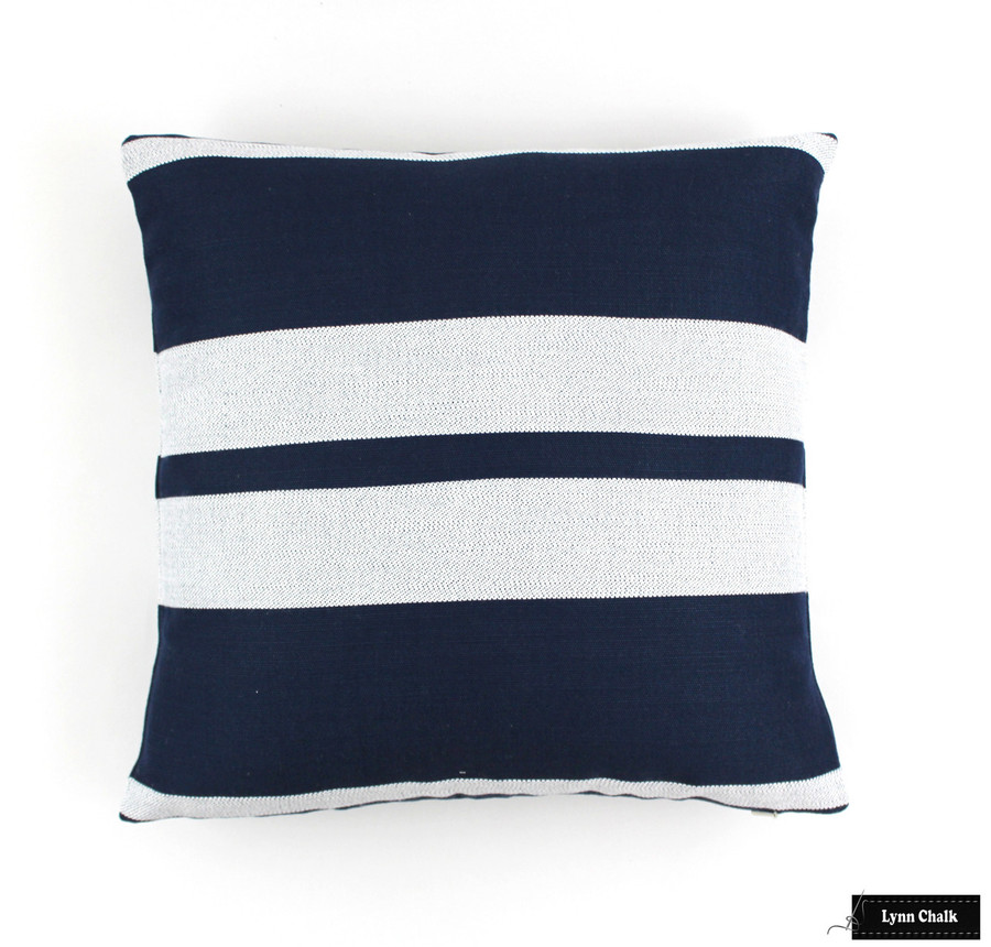 Little Big Stripe in Blue Boy (16 X 16)