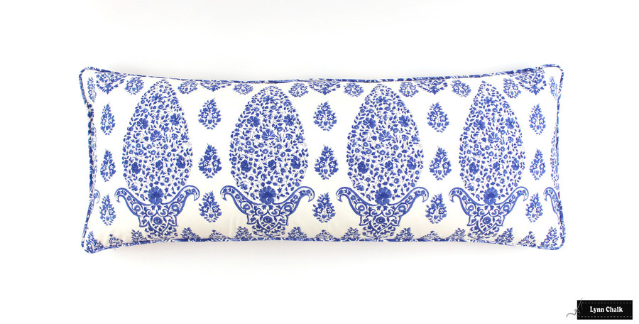 14 X 36 Pillow in Clarence House Topo in Cadet