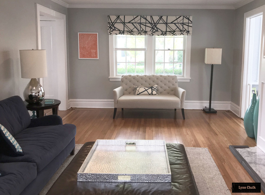 Kelly Wearstler Channels Custom Drapes in Living Room - Shown in Ebony/Ivory (Comes in 4 Colors)