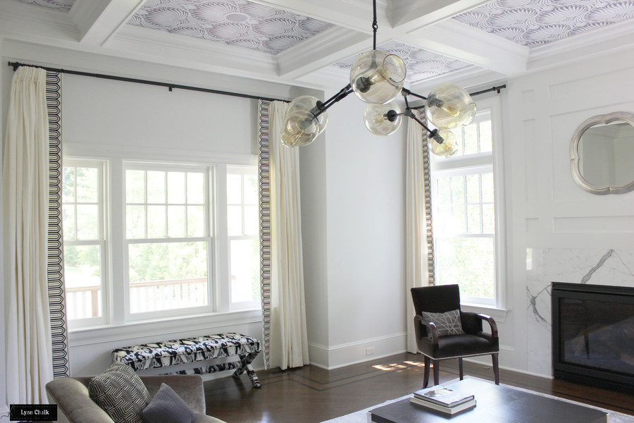 Schumacher Arches Embroidered Tape Custom Living Room Drapes (Wide-6 Inches Wide-comes in several colors)