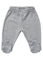 cotton leggings with feet grey