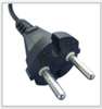 European plug fits types C, E and F 2.5 amp to 16 amp socket receptacles utilized across Europe.