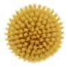 Natural bristles for dry skin brushing.