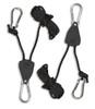 Rope ratchets for hanging the Sauna Fix sauna lamp.