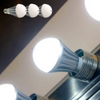 The 3-pack of ION Brite anion 7 watt cool light bulbs are perfect for placement in bathrooms and over kitchen sinks.