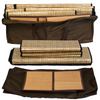 Sauna Fix Convertible Bundle sauna tent travel bag for tent panels and bamboo floor mats.