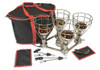 Sauna Fix 220-240 volt sauna lamp, rope ratchets, stay safe glasses with black and red trim portable storage cases.