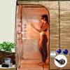 The Sauna Fix Hot Yoga Exercise Bundle tent sauna system includes the sauna tent, Sauna Fix 220/240 volt lamp, body mineral balancing food salts and the Breathe Safe sauna ion generator.