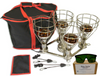 The Sauna Fix 240 volt near infrared sauna lamp, rope ratchets, and a lamp travel storage bag are included with the Hot Yoga and Exercise Bundle. Bulbs for the lamp are not included.
