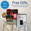 Order the Sauna Fix 110 Volt Convertible Ultimate Bundle or Hot Yoga 110 Volt Exercise Ultimate Bundle and receive over $550 in free gift items - shipped right away.