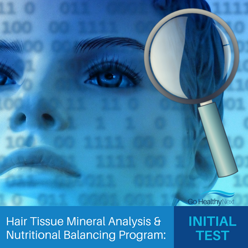 HTMA and Body Mineral Balancing Program: initial hair analysis test and customized nutritional balancing recommendations and nutritional counseling services from Practitioner Eileen Durfee, NC.