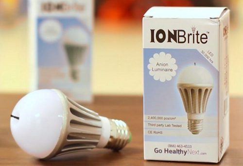 ION Brite® Anion LED Light Bulb and box