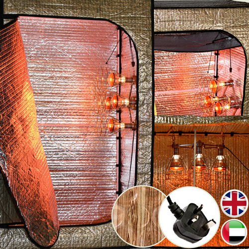 The Sauna Fix 220/240 volt Convertible Bundle with BS plug type G is compatible with outlets in the United Kingdom, United Arab Emirates and more.