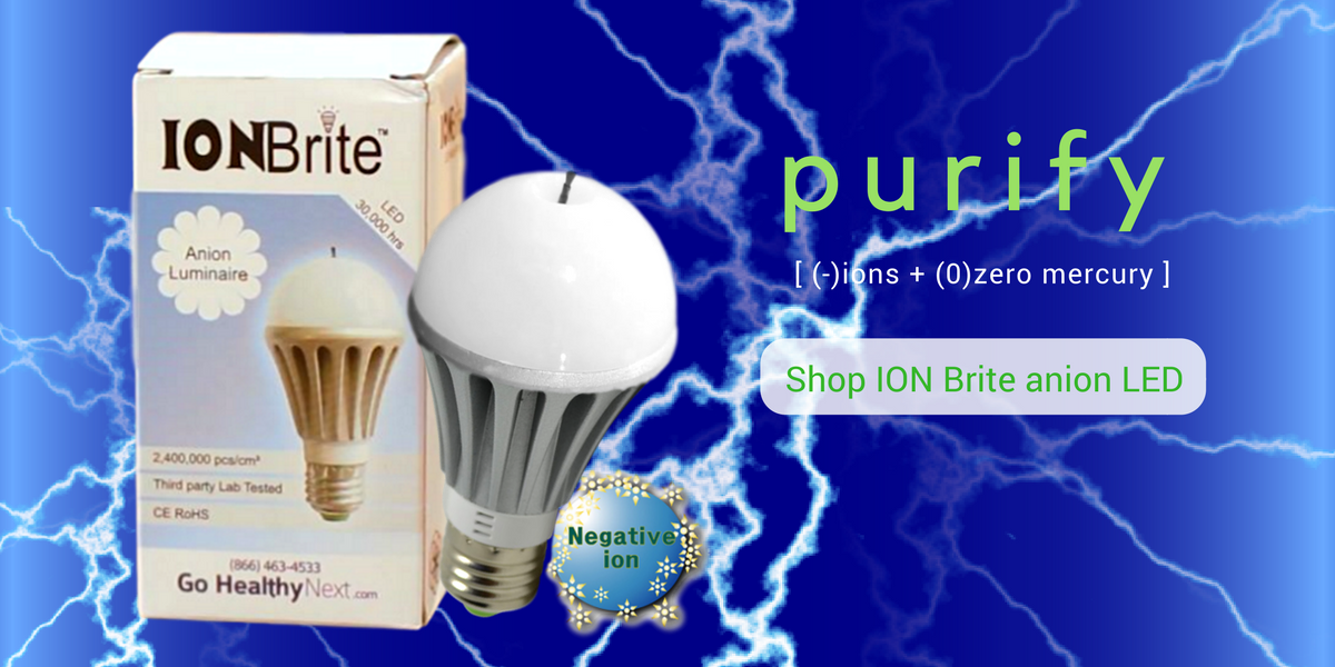 ION Brite anion LED: Quiet home air purification with negative ions