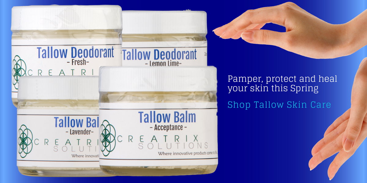 Tallow Balm and Tallow Deodorant skin care