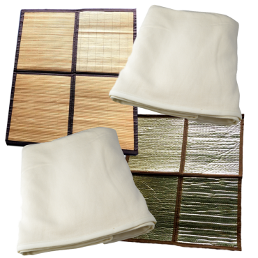 Bamboo Sauna Floor Mats and Organic Bamboo Fleece Throw Rugs