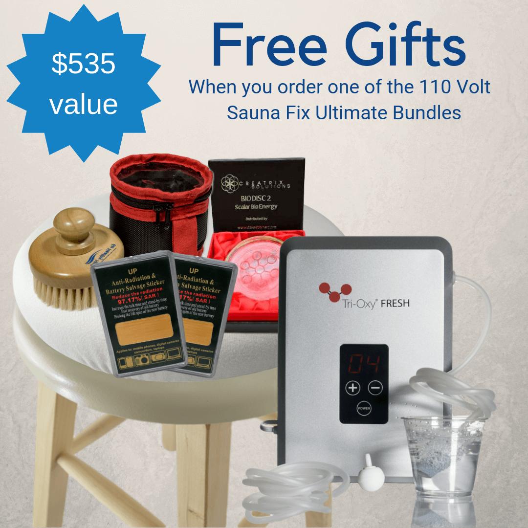 Free Gift 110 Volt Sauna Bundle