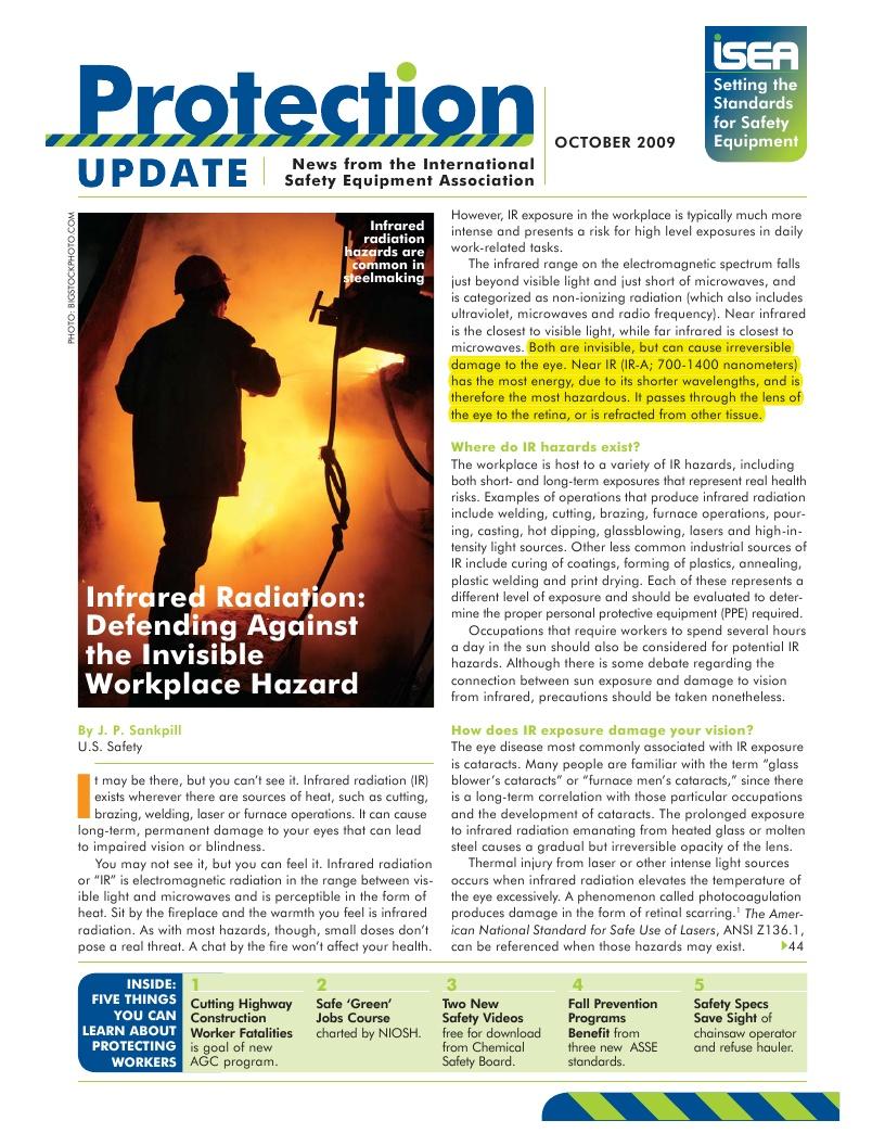International Safety Equipment Association Near IR Protection