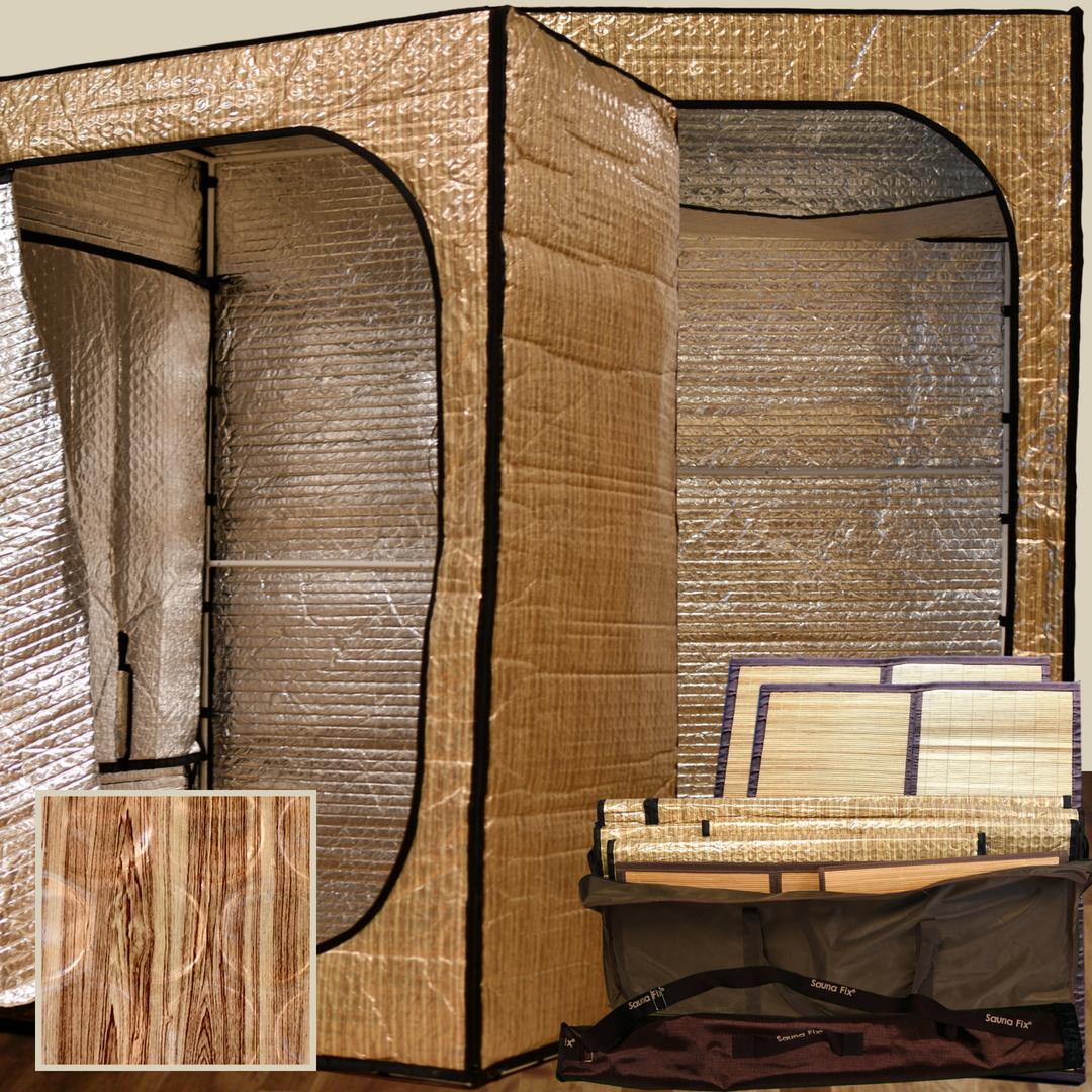 Portable radiant indoor sauna tents