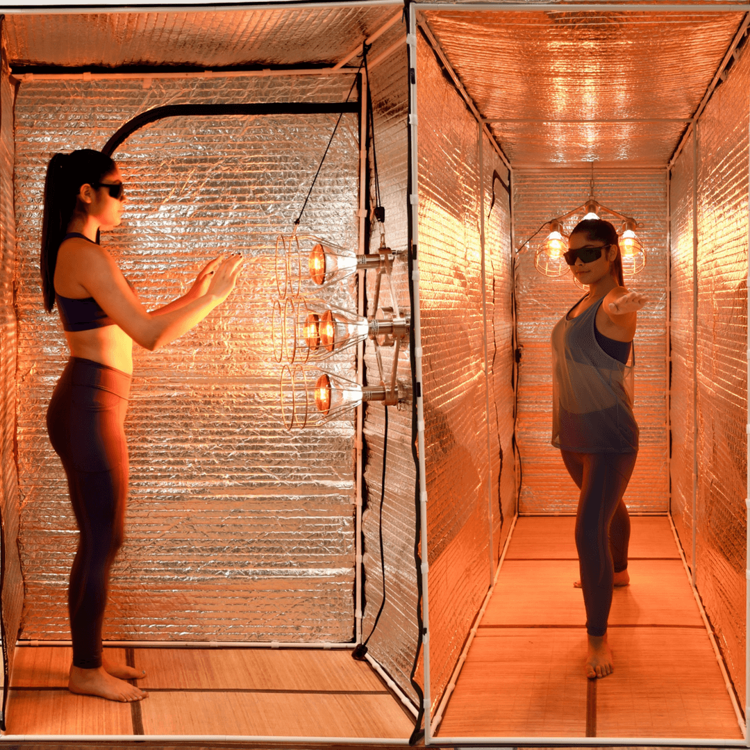Sauna Fix near infrared Hot Yoga and Exercise Bundle tent sauna system