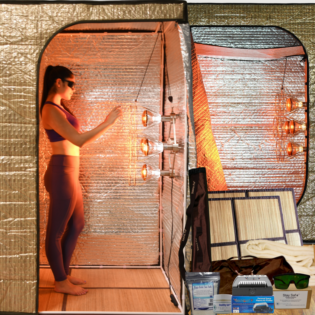 Sauna Fix near infrared Ultimate Bundle tent sauna system and accessories